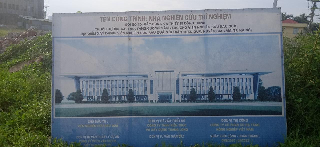 Bách Chiến cung cấp và thi công ốp gạch ngoại thất INAX Viện Nghiên Cứu Rau Quả