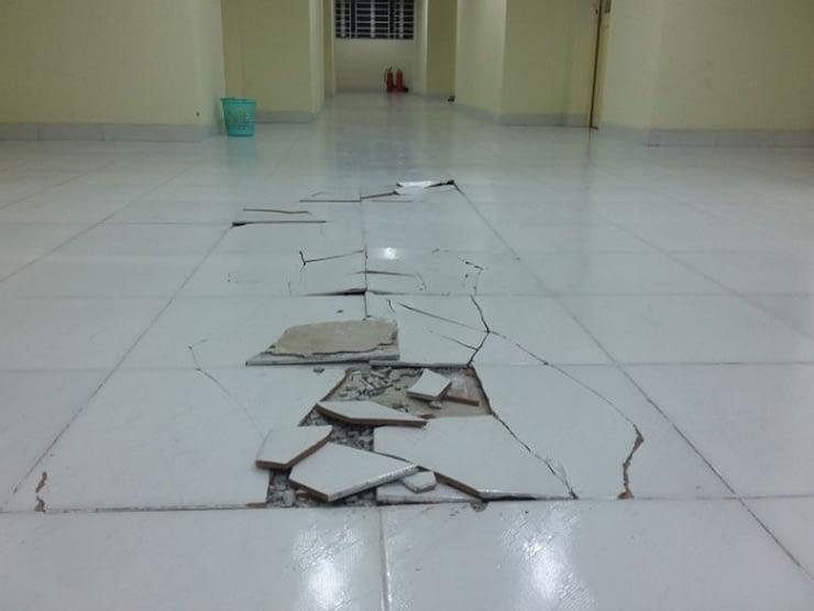 Cách xử lý gạch lát nền bị ộp