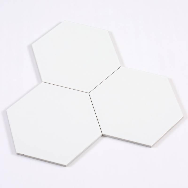 Gạch thẻ lục giác trắng KT 200*230*115mm M23200