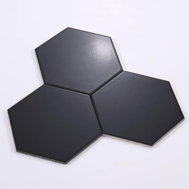 Gạch thẻ lục giác đen KT 200*230*115mm M23207