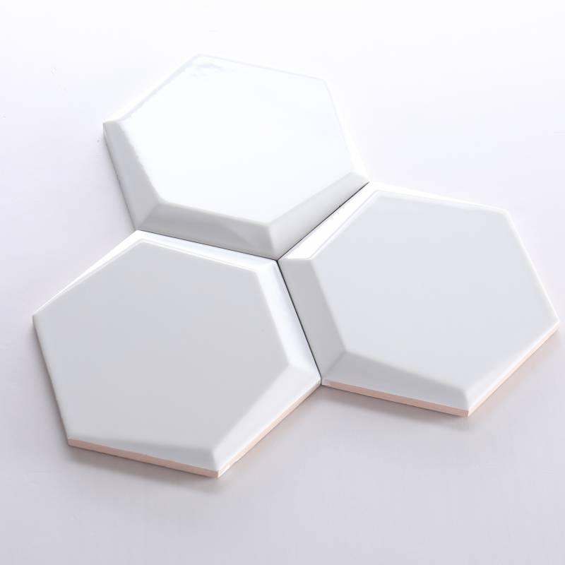 Gạch thẻ lục giác trắng bóng vát 87*173*150mm M1715800