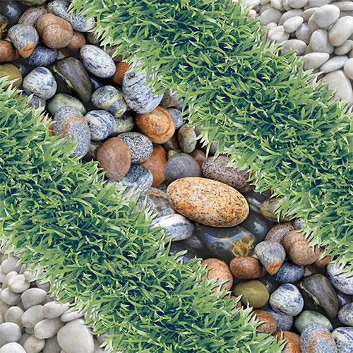 Gạch lát sân vườn 40×40 Prime BC9228 vân cỏ-sỏi đá