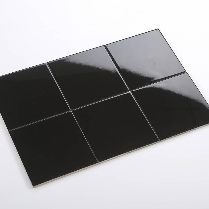 Gạch thẻ đen bóng phẳng 200*200 BC-M2207