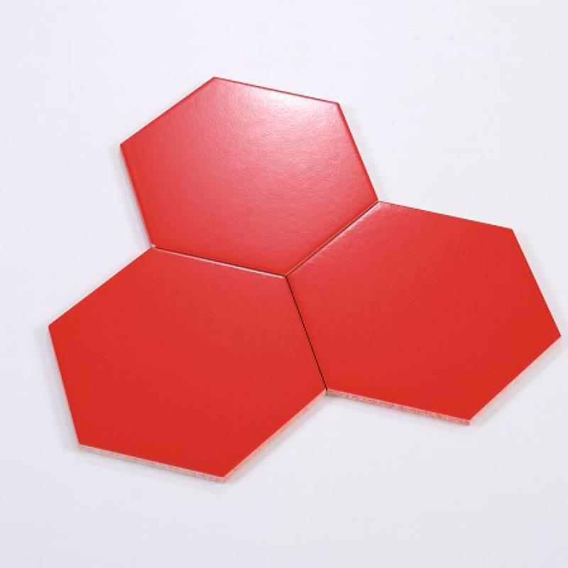 Gạch thẻ lục giác đỏ KT 200*230*115mm M23210