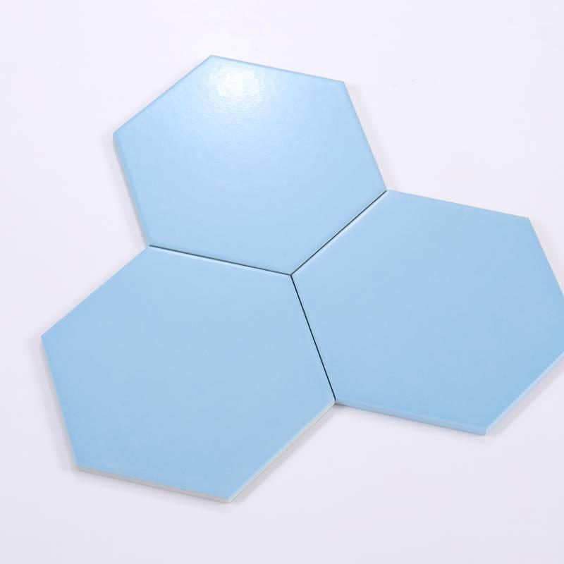 Gạch thẻ lục giác xanh da trời 200*230*115mm M23204-B