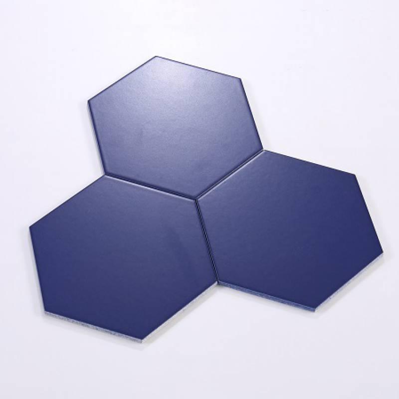 Gạch thẻ lục giác xanh đen KT 200*230*115mm M23208