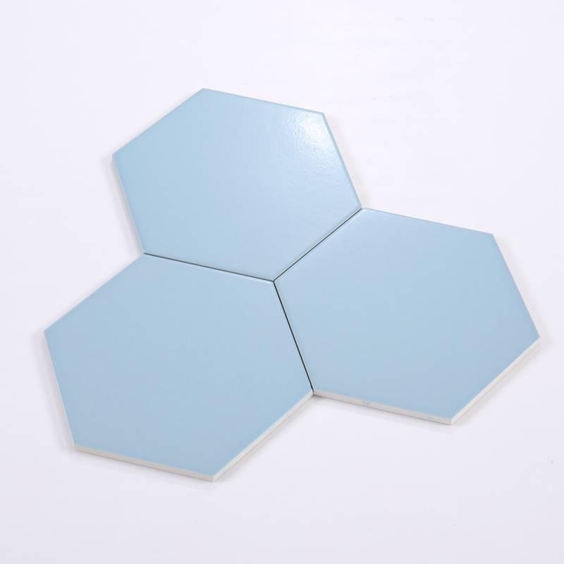 Gạch thẻ lục giác xanh nhạt 200*230*115mm M23204-A