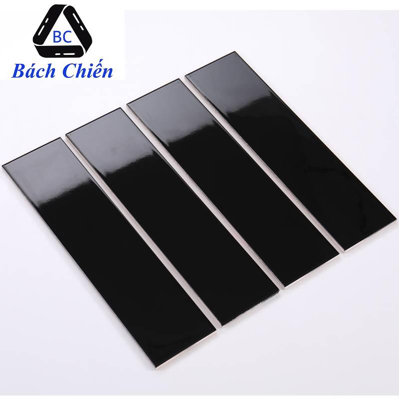Gạch thẻ màu đen bóng phẳng 100*400mm BC-M1407