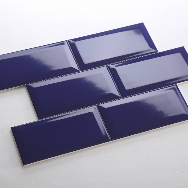 Gạch thẻ màu xanh dương đậm mờ vát 100*200mm BC-M1208X