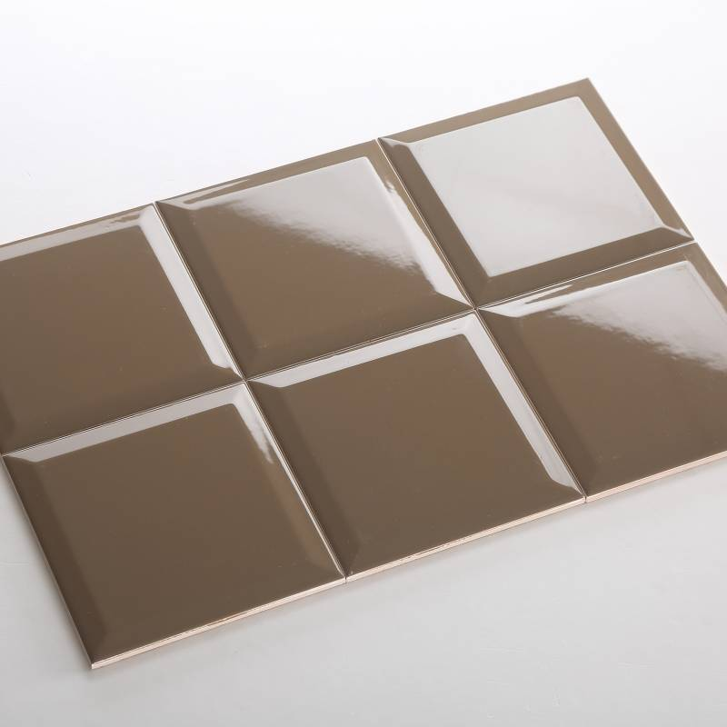 Gạch thẻ nâu bóng vát 150*150mm BC-M151514X