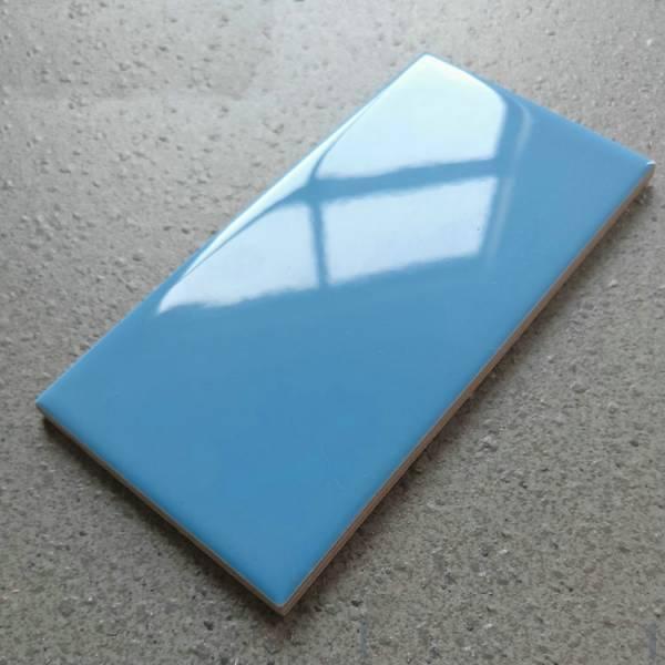 Gạch thẻ nhập khẩu xanh bóng phẳng 75x150mm BC-M751504