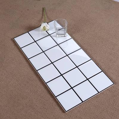 Gạch thẻ ốp tường 8 vạch đen vuông trên bề mặt khuôn trắng bóng 300*600mm N360800-7H