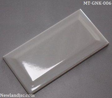 Gạch thẻ ốp tường nhập khẩu vát cạnh ghi xám KT 75x150mm MT-GNK-006
