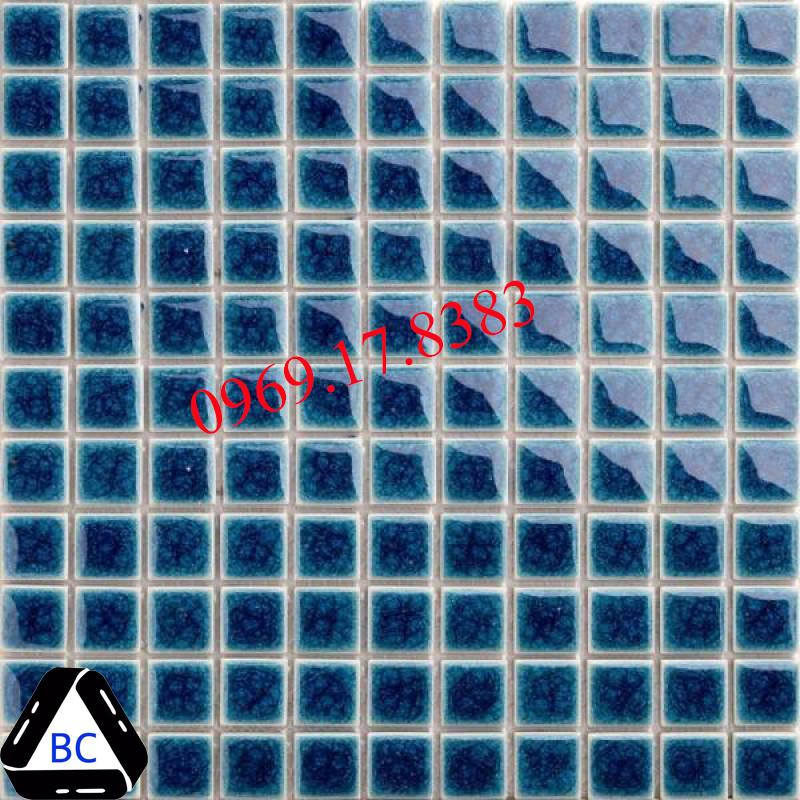 Mosaic Gốm Sứ đơn màu 25x25x4mm MSG25009