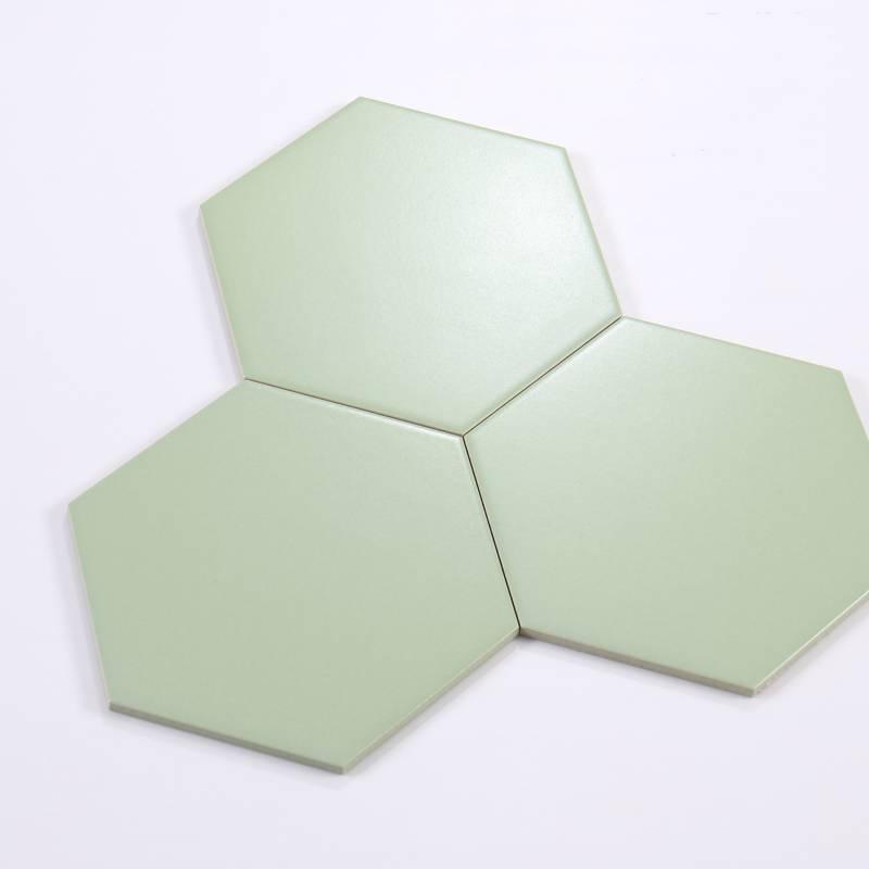 Gạch thẻ lục giác xanh KT 200*230*115mm M23206