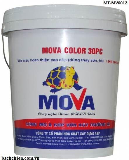Vữa hoàn thiện thay thế sơn đa sắc màu Mova Color 30PC MT-MV0012