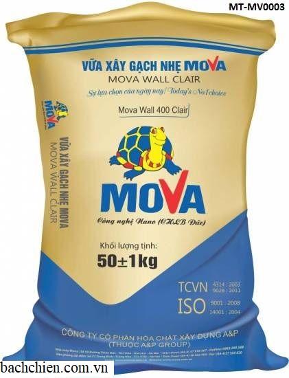 Vữa xây gạch không nung Mova Wall 400 Clair MT-MV0003