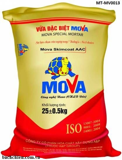 Bột bả tường gạch nhẹ Mova Skimcoat AAC MT-MV0013
